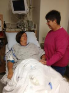 Moments before I would begin surgery and Rhonda would begin prep.