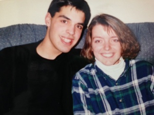 During our college dating years. Probably 1993.
