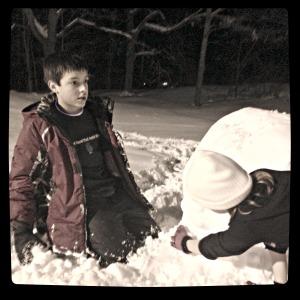 AJ BJ snowman