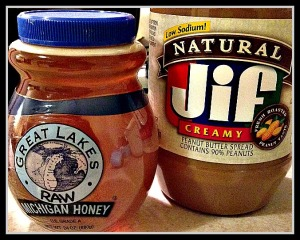 A delicious combo - honey and peanut butter